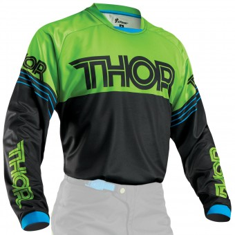 Maglia Cross Thor Phase Hyperion Black Green