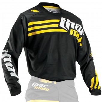 Maglia Cross Thor Phase Strands Black Yellow