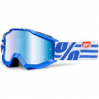 Maschera Cross 100% Accuri Nimitz Junior Mirror Blue Lens