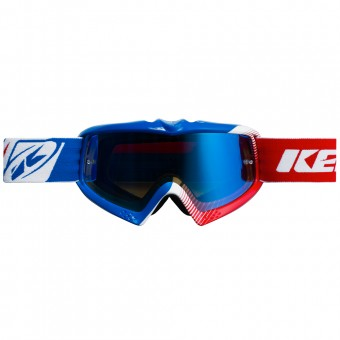 Maschera Cross Kenny Performance Blue White Red Kid