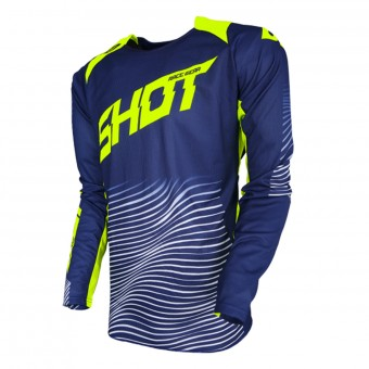 Maglia Cross SHOT Aerolite Optica Blue Neon Yellow
