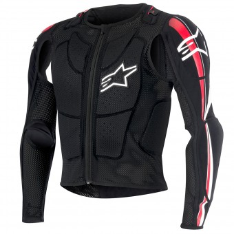 Gilet di protezione Cross Alpinestars Bionic Plus Black Red