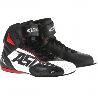 Sneakers Moto Alpinestars Faster 2 Vented Black White Red