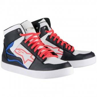 Sneakers Moto Alpinestars Stadium Black White Red Blue