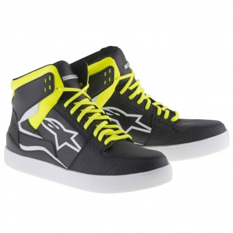 Sneakers Moto Alpinestars Stadium Black Yellow Fluo Red