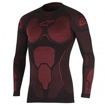 Maglia Intima Riscaldata Alpinestars Ride Tech Top LS Summer Black Red