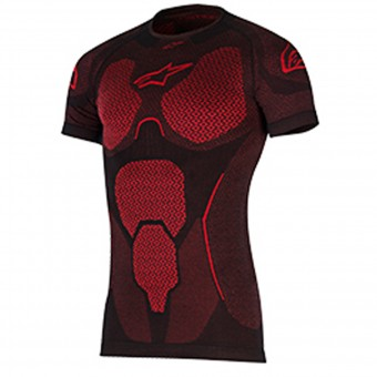 Maglia Intima Riscaldata Alpinestars Ride Tech Top SS Summer Black Red