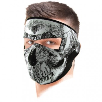 Collare invernale Zanheadgear Glow In The Dark Skull