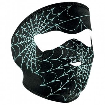 Collare invernale Zanheadgear Spiderweb Glow In The Dark