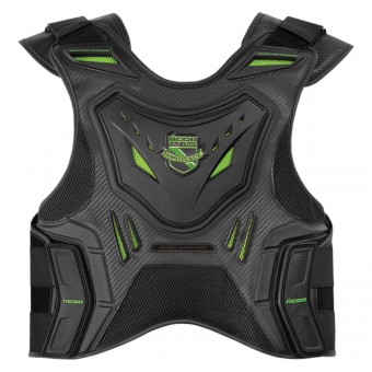 Paraschiena Moto ICON Stryker Vest Black Green