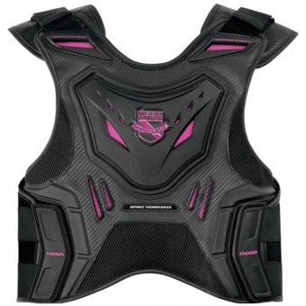 Paraschiena Moto ICON Stryker Vest Black Pink Woman