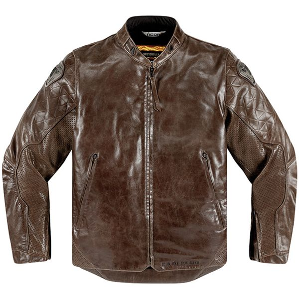 Giacche moto ICON 1000 Retrograde Brown