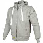 Giacche moto Booster Hoodie Kevlar Core Light Grey