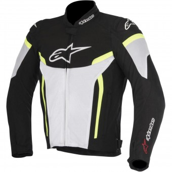 Giacche moto Alpinestars T-GP Plus R V2 Air Black White Yellow Fluo