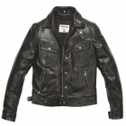 Giacche moto Helstons Cannonball Leather Rag Black