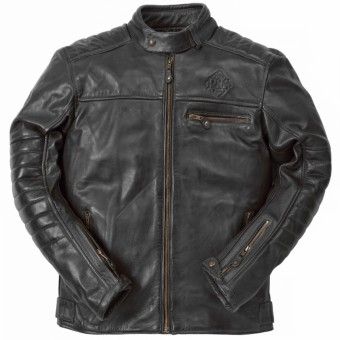 Giacche moto Ride & Sons Getaway Cow Skin Black