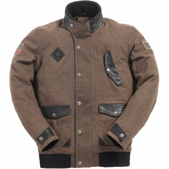 Giacche moto Ride & Sons Runaway Brown Waxed