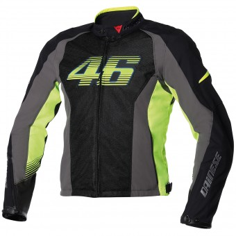 Giacche moto Dainese VR46 Air Black Yellow fluo