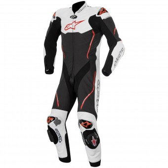 Tute Moto in pelle Alpinestars Atem Suit Black White Red