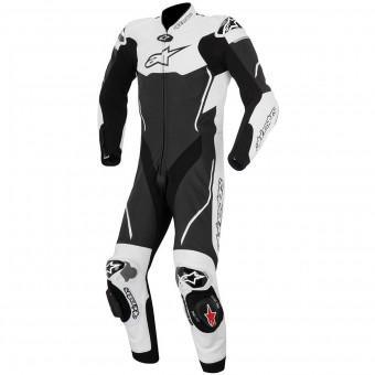 Tute Moto in pelle Alpinestars Atem Suit Black White