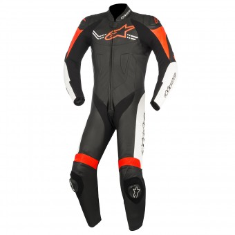 Tute Moto in pelle Alpinestars Challenger V2 Black White Red Fluo