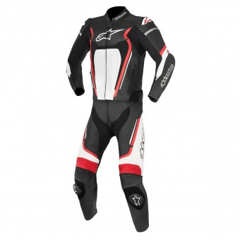 Tute Moto in pelle Alpinestars Motegi V2 Black Red White