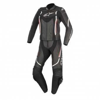 Tute Moto in pelle Alpinestars Stella Motegi V2 2P Black White Red