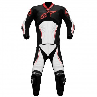 Tute Moto in pelle Alpinestars Atem Suit 2PC Black White Red