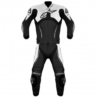 Tute Moto in pelle Alpinestars Atem Suit 2PC Black White