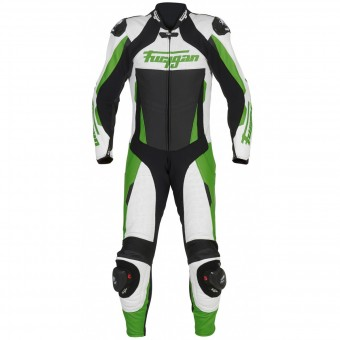 Tute Moto in pelle Furygan Full Apex White Green Black