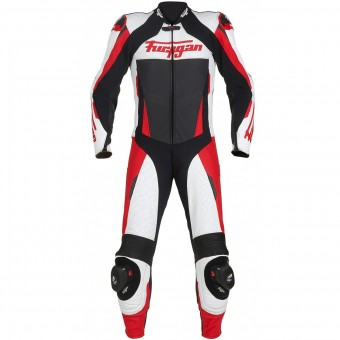 Tute Moto in pelle Furygan Full Apex White Red Black