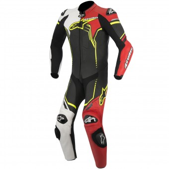 Tute Moto in pelle Alpinestars GP Plus Leather Suit Black White Red Yellow Fluo