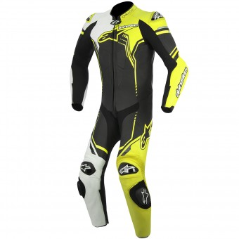 Tute Moto in pelle Alpinestars GP Plus Leather Suit Black White Yellow Fluo