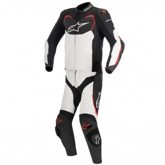 Tute Moto in pelle Alpinestars GP PRO 2PC Black White Red