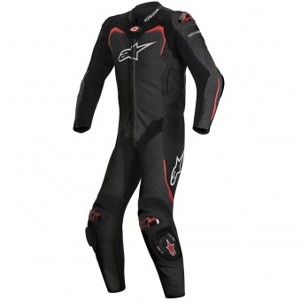 Tute Moto in pelle Alpinestars GP PRO Tech Air Bag Compatible Black Red