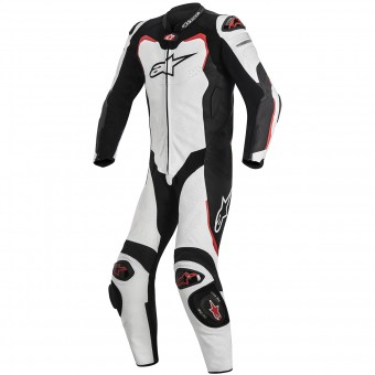 Tute Moto in pelle Alpinestars GP PRO Tech Air Bag Compatible White Black Red