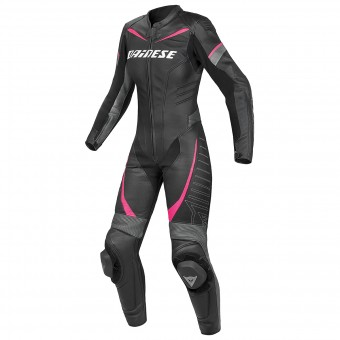 Tute Moto in pelle Dainese Racing P. Lady Black Anthracite Fuchsia