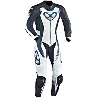 Tute Moto in pelle Ixon Starbust Black White Blue