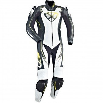 Tute Moto in pelle Ixon Starbust Black White Yellow