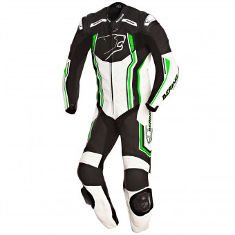 Tute Moto in pelle Bering Supra-R Black White Green