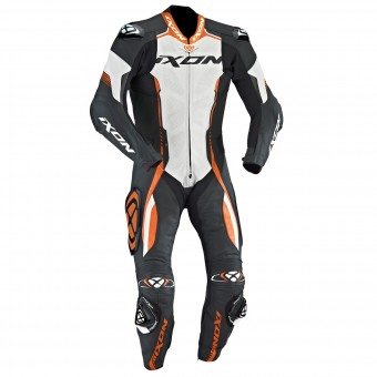 Tute Moto in pelle Ixon Vortex EPI Black White Orange
