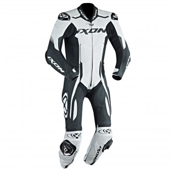 Tute Moto in pelle Ixon Vortex EPI White Black