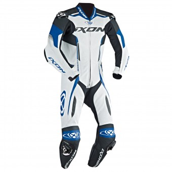 Tute Moto in pelle Ixon Vortex EPI White Blue