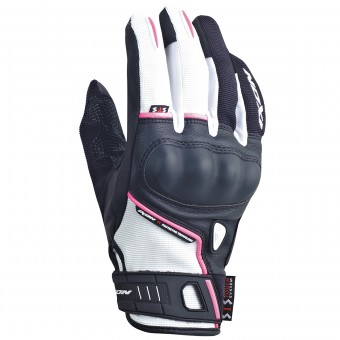 Guanti moto Ixon RS Grip Lady HP Nero Bianco Fushia