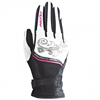 Guanti moto Ixon RS Shine Black White Fuchsia