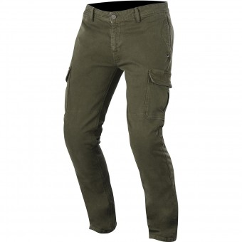 Pantalone moto Alpinestars Deep South Denim Cargo Military Green