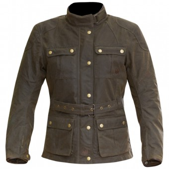 Giacche Moto Lunghe Merlin Ashley Wax Lady Olive