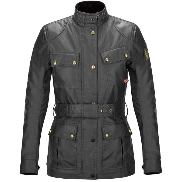 Giacche Moto Lunghe Belstaff Classic Trophy Lady Black
