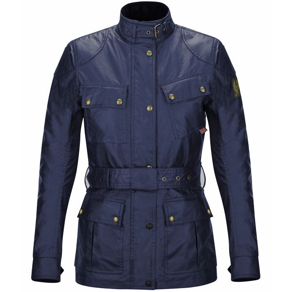 Giacche Moto Lunghe Belstaff Classic Trophy Lady Navy Blue