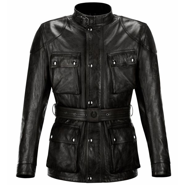 Giacche Moto Lunghe Belstaff Classic Trophy Leather Black